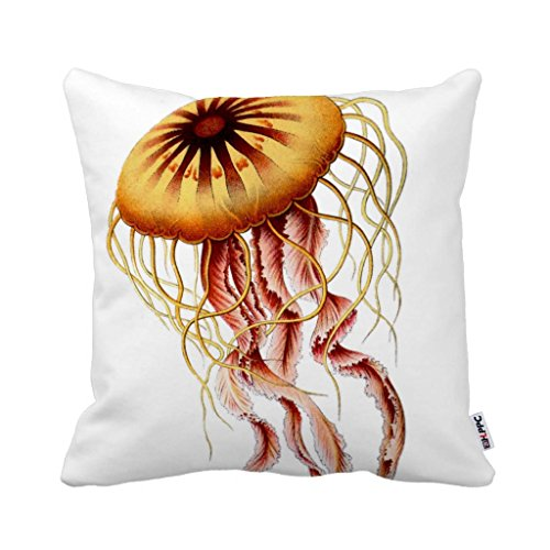 HLPPC Home Decor Jellyfish Pillow Zippered Throw Pillow Cover Cushion Case 45cm x 45cm (One Side)