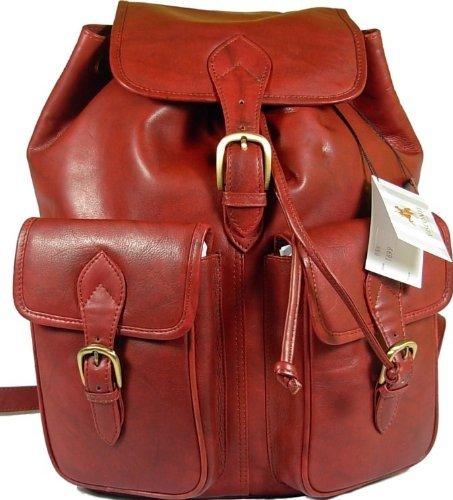 New large Visconti unisex dark brown soft leather rucksack backpack bag 1699
