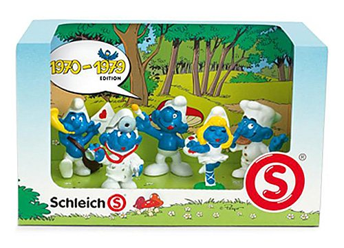 Buy Low Price Schleich Smurf Decade 5 Mini Figures Set: 1970 – 1979 (B004RJG4AA)