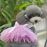 ドレス スカート ドッグウェア コスチューム コスプレ 愛犬 犬用 犬服 可愛い ピンク (XL)