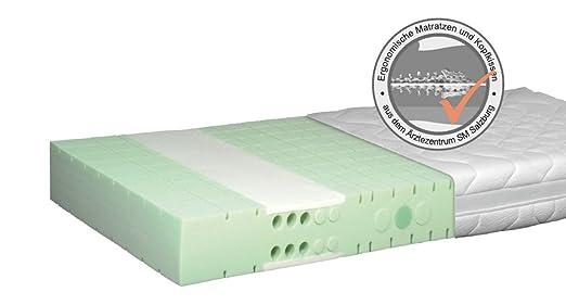 E(R)GO einstellbare Matratze mit Aktiv Lordosen- und Schulterzone H1 90x190