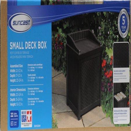 Suncast 22 Gallon Resin Wicker Brown Deck Box