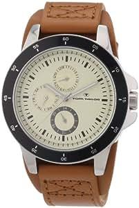 TOM TAILOR Herren-Armbanduhr XL Analog Quarz Leder 5411302