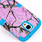 "myLife (TM) Sky Blue - Light Pink Tree Camouflage Design (3 Piece Hybrid) Hard and Soft Case for the Samsung Galaxy S4 ""Fits Models: I9500, I9505, SPH-L720, Galaxy S IV, SGH-I337, SCH-I545, SGH-M919, SCH-R970 and Galaxy S4 LTE-A Touch Phone"" (Fitted Front and Back Solid Cover Case + Internal Silicone Gel Rubberized Tough Armor Skin)"