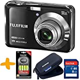 "Bundle: Fuji AX650 Digital Camera in Black + 8GB + Fuji Tough Case + Bossman NiMh Rechargeable Batteries & Charger (Fujifilm Finepix AX650 Black, 16MP, 5xOptical Zoom, 2.7"" LCD, HD video)"