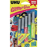 UHU Shiny Glitter Glue Pens Pack of 6 Assorted Colours
