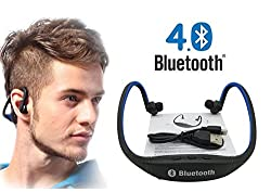 Link Plus In Ear Neckband Bluetooth Headphone With Mic,Sd Card Slot Assorted Color For Lenovo Vibe K5 Note
