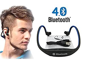 Link Plus In Ear Neckband Bluetooth Headphone With Mic,Sd Card Slot Assorted Color For Samsung Galaxy S7 Edge