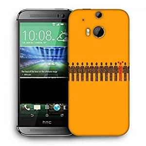 Snoogg Different Dual Fun Printed Protective Phone Back Case Cover For HTC One M8