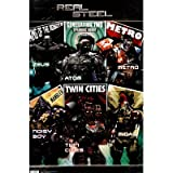Real Steel Movie Grid Poster Print - 22x34 custom fit with RichAndFramous Black 22 inch Poster Hangers