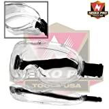 Neiko 53875B ANSI Z87.1 Anti-Fog Approved Wide-Vision Extra-Soft Lab Safety Goggle