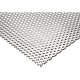 3003 Aluminum Perforated Sheet, Unpolished (Mill) Finish, H14 Temper, Inch, Staggered Round