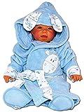 Baby Erstausstattung Set: Bademantel Kapuze Badetuch Schuhe Gürtel mit süßer