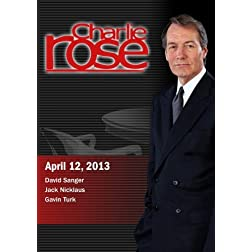 Charlie Rose - David Sanger; Jack Nicklaus; Gavin Turk (April 12, 2013)