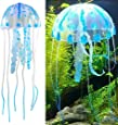Generic Glowing Effect Artificial Fake Jellyfish For Fish Tank Decoration Ornament, Blue