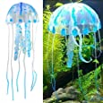 niceeshop Glowing Effect Artificial Jellyfish for Aquarium Fish Tank Ornament (Blue)