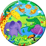 Creative Party Jungle Buddies Round Paper Plates