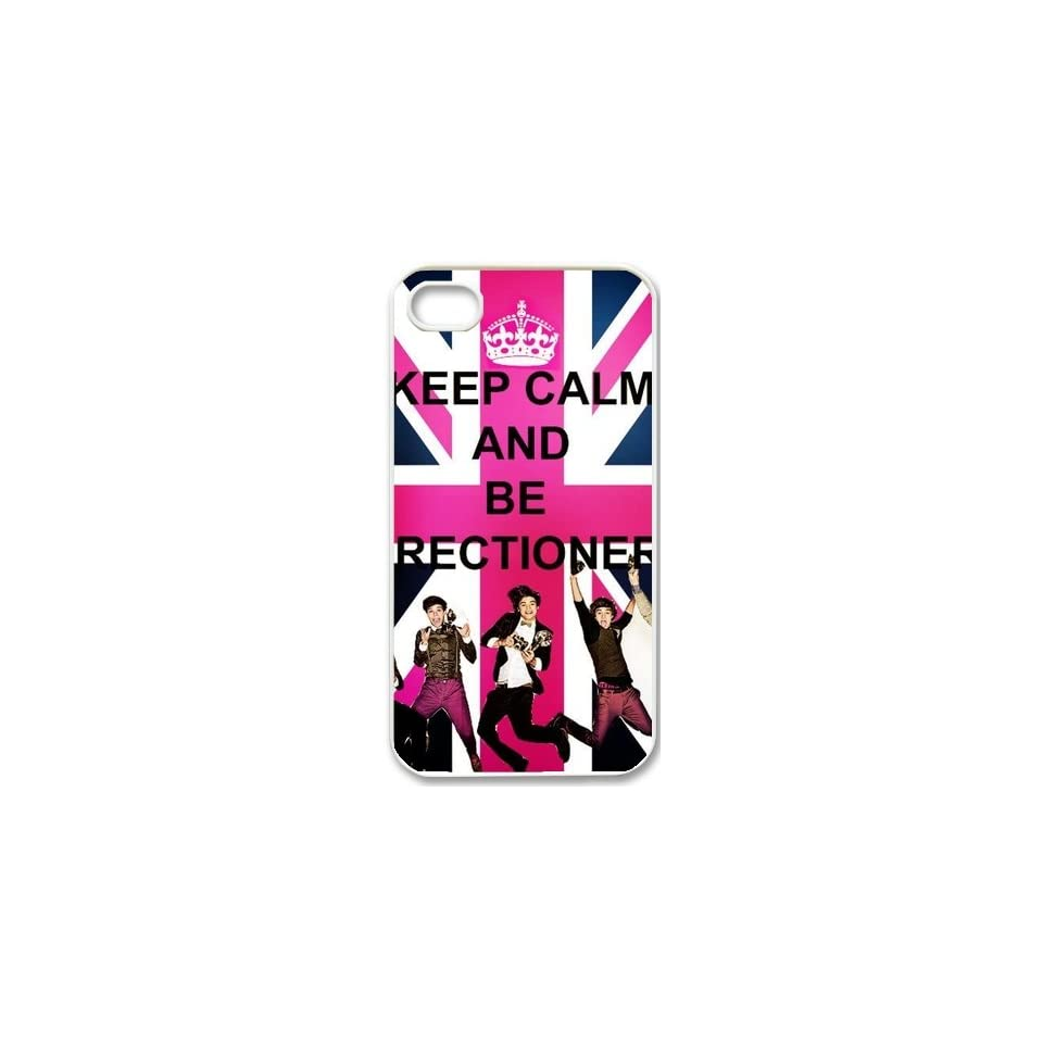 Apple iPhone 5 Love One Direction Boy Band 1D Keep Calm Design WHITE Sides Slim HARD Case Skin Cover Protector Accessory Vintage Retro Unique design Comes in retail packing