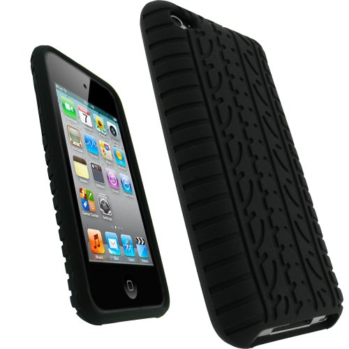 iGadgitz Black Silicone Skin Case Cover  Tyre