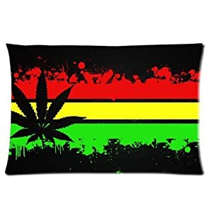 custom marijuana feuille cana motif graffiti taie d 39 oreiller de taille standard en coton motif. Black Bedroom Furniture Sets. Home Design Ideas