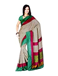 Saran's Exclusive Malbari Art Silk Designer Saree