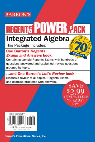Integrated Algebra Power Pack (Regents Power Packs)