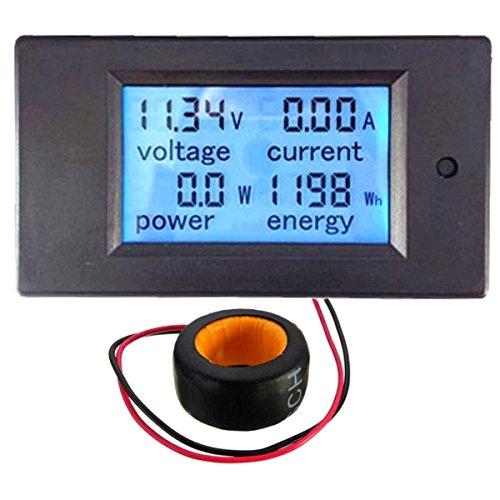 Drillpro Digital AC 100A 4-in-1 Power Tensione Corrente energia voltmetro e CT-PZEM-061 (V2.0), display a cristalli liquidi (tensione, corrente, potenza, parametri energetici in una volta)