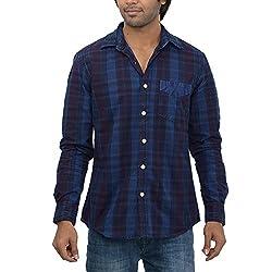 Inego Men's Casual Shirt (Ultra Marine )