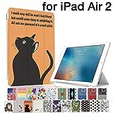 MIxUP iPad Air 2 スマート カバー バック ケース air2 手帳型 スタンド 機能 アイパッド エア2 おしゃれ かわいい 猫 ねこ cat 黒猫 MXP-A2-ssANI-bkcat