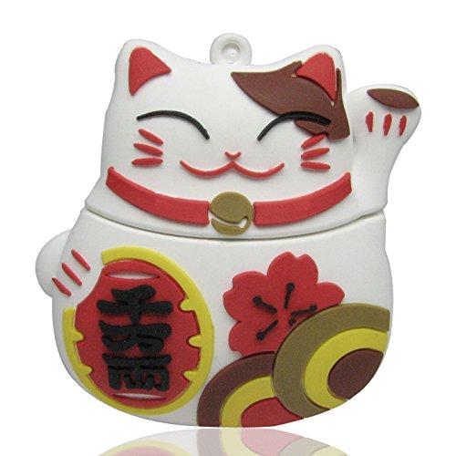 818-shop-no19400020016-hi-speed-20-usb-flash-drive-16gb-cat-lucky-charm-3d-white
