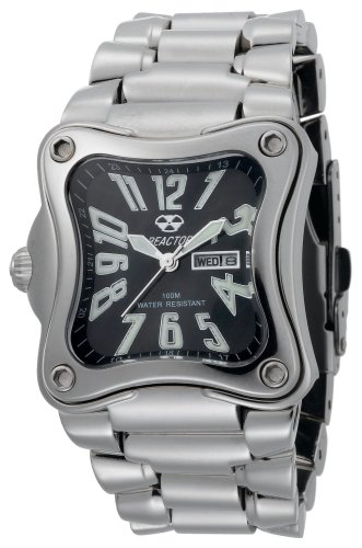82d944d65cdbc REACTOR Midsize 88001 Flux Black Pearl Dial Stainless Steel Watch ...