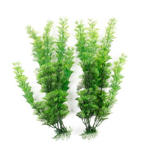 2 pcs green plastic artificial water plants for aquarium for Artificial pond plants sale