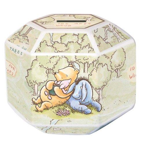 Disney Winnie The Pooh 100 Acre Wood Money Box in Tin, Fine China