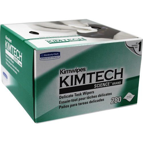 """Kimwipes 34155 Disposable Wipes, Lint Free, 4.5 X 8.5"""", 280/Box front-231054"""