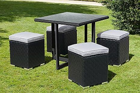 MY-Furniture - Conjunto Cubo Negro y Topo Comedor