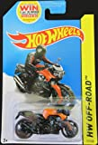 HOT WHEELS 2014 RELEASE BLACK AND ORANGE BMW K 1300 R MOTORCYCLE, HOT WHEELS BMW MOTORCYCLE DIE-CAST