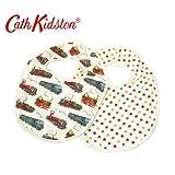 CATH KIDSTON【キャス・キッドソン 】 422192 Baby Bibs-2P Tiny Trains Cream 【並行輸入品】