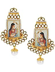 Sukkhi Fancy Antique Gold Plated Kundan Earring For Women