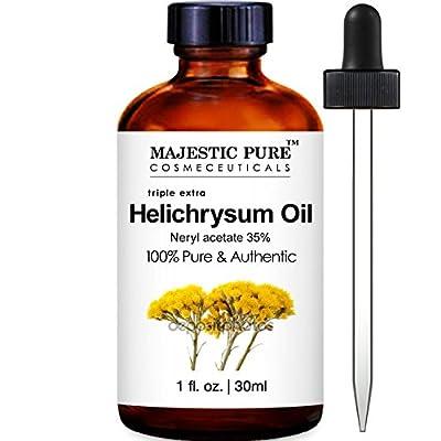 Majestic Pure Helichrysum Essential Oil, Premium Quality Helichrysum Italicum, 1 Fluid Ounce
