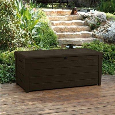 Keter Saxon Plastic Garden Storage Box - 455 Litre Capacity
