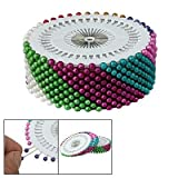"480PCS 1.5"" Decorative Colorful Round Pearl Straight Head Pins"