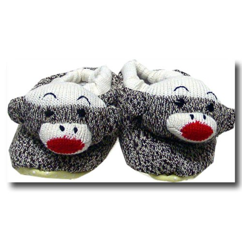 Sock Monkey Slippers - Medium (Size 4)
