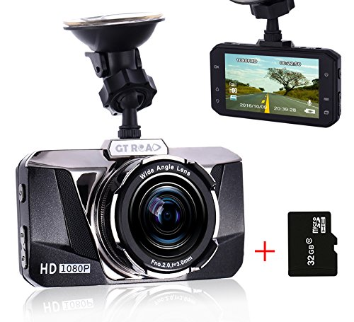 Dash Cam for Cars by GT ROAD,Car DVR Video Recorder HD 1080P,Black Box for Vehicles with 170 Degree Lens,Super Night Vision,G-Sensor and Loop recording(32GB high-speed TF Card Included) (Car Dash Camera Vaas compare prices)