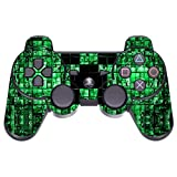 GameXcel ® Sony PS3 High Gloss Controller Skin - Custom Playstation 3 Remote Vinyl Sticker - Play Station 3 Joystick Decal - Green Digicamo [ Controller Not Included ]