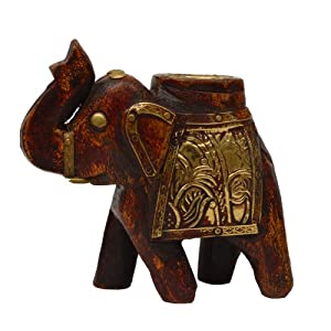 Amazon.com: Home Decorating Ideas Royal Indian Elephant Wooden ...