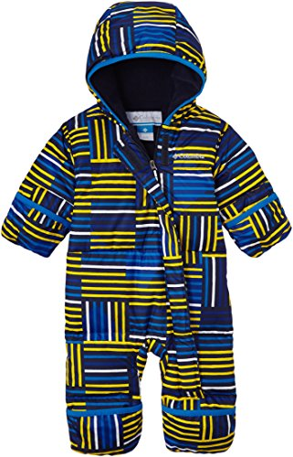 Columbia Baby-Boys Infant Snuggly Bunny Bunting, Hyper Blue Print, 12/18 Months front-1067974