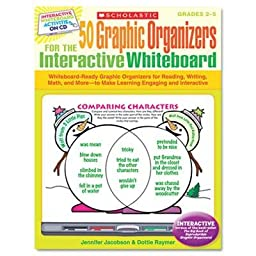 Scholastic - Graphic Organizers For Interactive Whiteboard Grades 2-5 112 Pgs Cd \