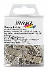 Javana Three-point-pins, 50 pieces