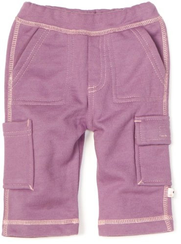 Babysoy Baby-Girls Newborn Soft Cargo Pants, Eggplant, 18-24 back-885600