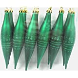 Queens Of Christmas WL-FIN-12PK-DOT-GR 12 Pack Decorative Finial Ornament With Dot Design, Green